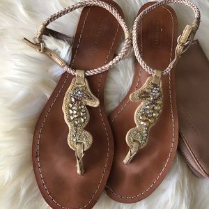 Coach Leather Sandals ❤️